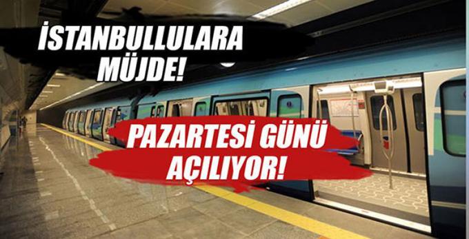 Kartal-Pendik-Tavşantepe Metro hattı açılıyor