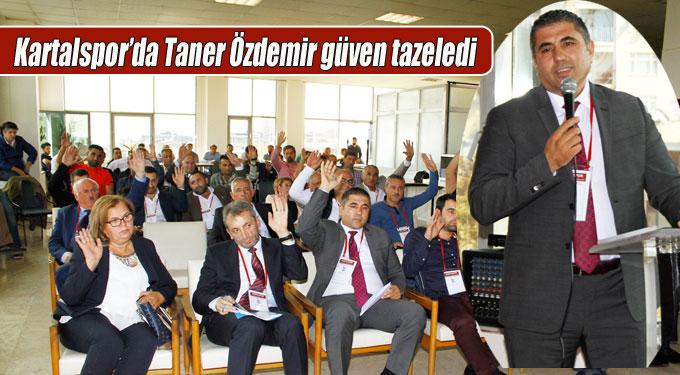 Kartalspor'da Taner Özdemir güven tazeledi