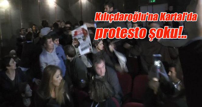 Kılıçdaroğlu'na Kartal'da katıldığı toplantıda protesto