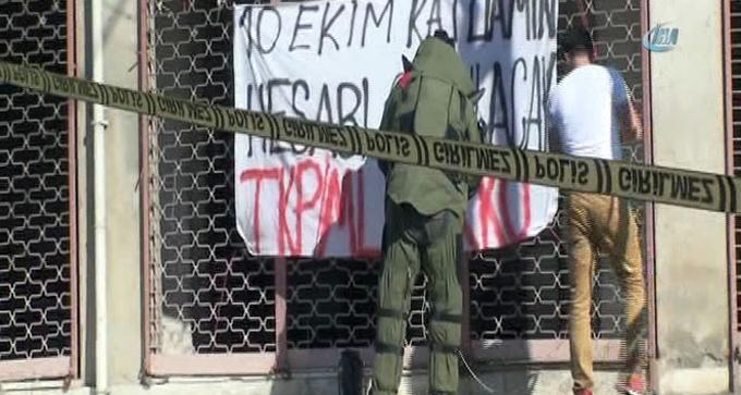Maltepe'de 'bombalı pankart' alarmı