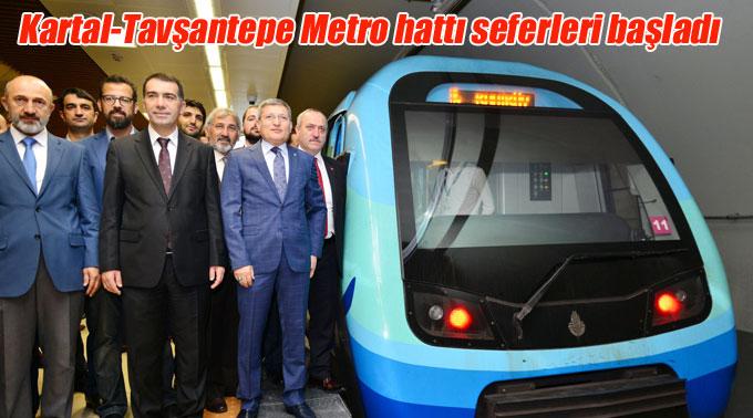 Kartal-Tavşantepe Metro hattı seferleri başladı