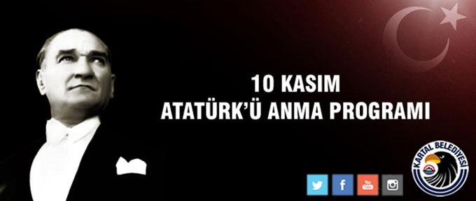 Atatürk 10 Kasım'da Kartal'da düzenlenecek bir dizi etkinlikle anılacak