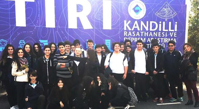 Ahmet Şimşek Anadolu Liseli öğrenciler Kandilli Deprem Evi ve Gözlem İstasyonunda eğitim aldılar