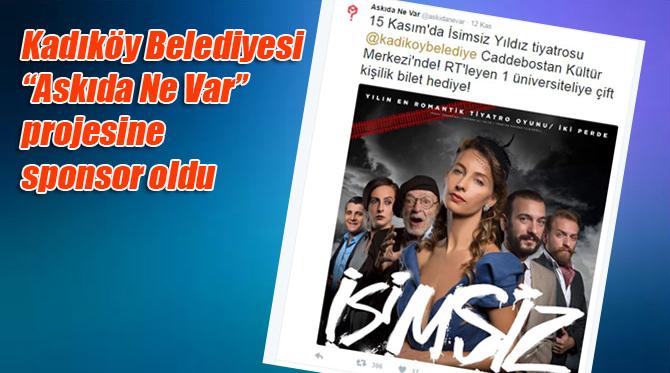 """Kadıköy Belediyesi'den """"Askıda ne var"""" projesine destek"""