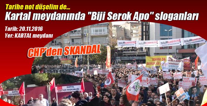 """Kartal meydanında """"Biji Serok Apo"""" sloganları"""