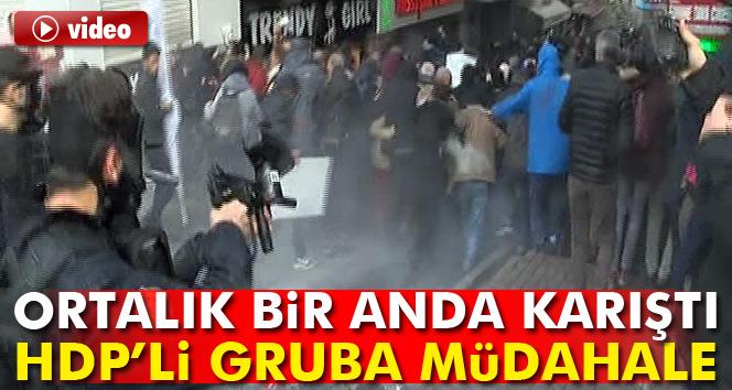 Kadıköy'de polis HDP'lilere müdahale etti