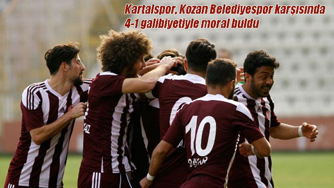 Kartalspor, Kozan Belediyespor karşısında 4-1 galibiyetiyle moral buldu