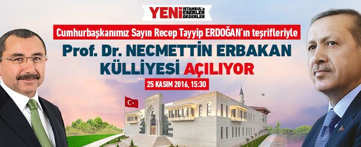 Sancaktepe'de Prof.Dr.Necmettin ERBAKAN Külliyesi açılıyor