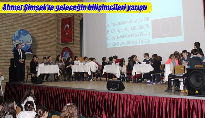 Ahmet Şimşek'te geleceğin bilişimcileri yarıştı