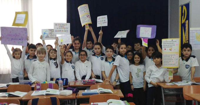 Ahmet Şimşek'te okul temsilciliği seçiminde demokrasi heyecanı yaşandı