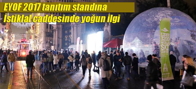EYOF 2017 tanıtım standına İstiklal caddesinde yoğun ilgi