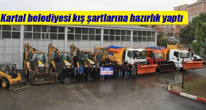 Kartal belediyesi kış şartlarına hazırlık yaptı