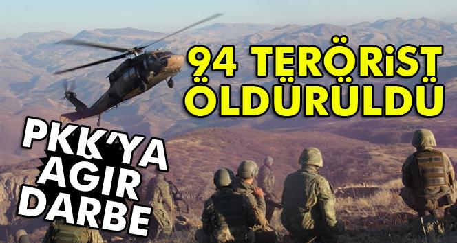 Son bir haftada 94 PKK'lı öldürüldü