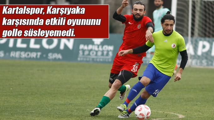 Kartalspor, Karşıyaka karşısında etkili oyununu golle süsleyemedi.