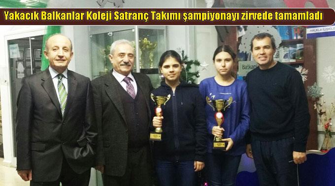 Yakacık Balkanlar Koleji Satranç Takımı şampiyonayı zirvede tamamladı
