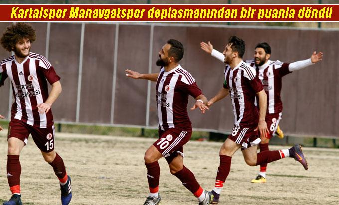 Kartalspor Manavgatspor deplasmanından bir puanla döndü