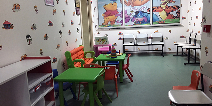 Maltepe Devlet Hastanesinde Çocuk Polikliniği Bekleme Salonu Yenilendi
