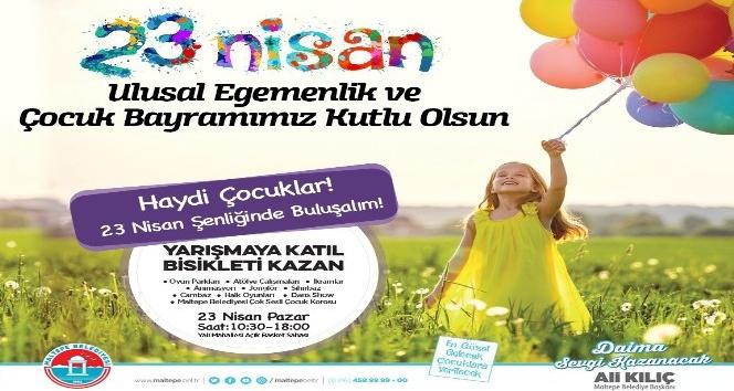 Maltepeli çocuklar 23 Nisan'da eğlenceye doyacak