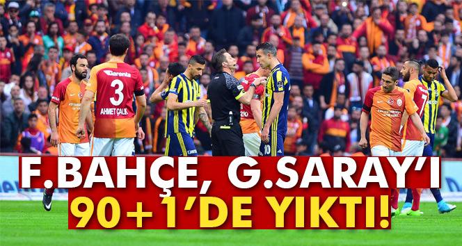 Fenerbahçe, Galatasaray'ı deplasmanda 1 – 0 yendi