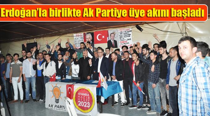Erdoğan'la birlikte Ak Partiye üye akını başladı