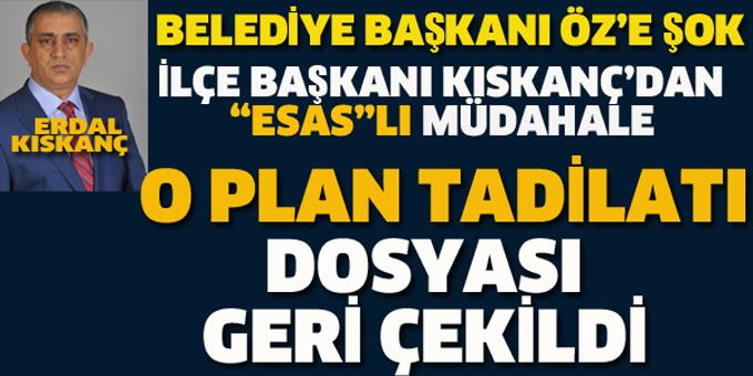 Kartal Belediyesi'nde Esas Holding plan tadilatı geri çekildi