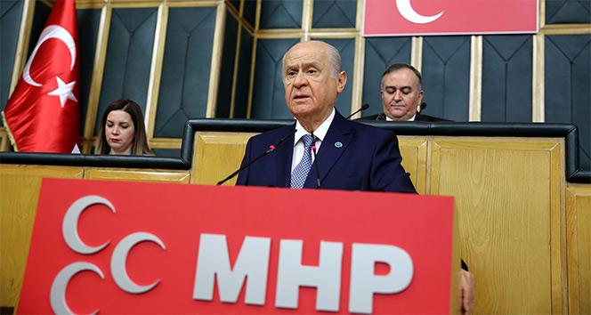 Bahçeli'den CHP'ye eleştiri, cesaretiniz varsa emperyalizme kafa tutun