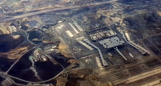İstanbul'un yeni 3. Havalimanının uçaktan çekilen görüntüleri