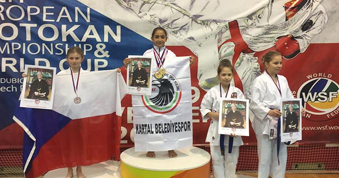 Kartal'ın gururu milli sporcu Armina Erkan, altın madalyaları topladı