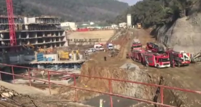 Sarıyer'de bir şantiye alanında çalışan işçi toprağa gömüldü
