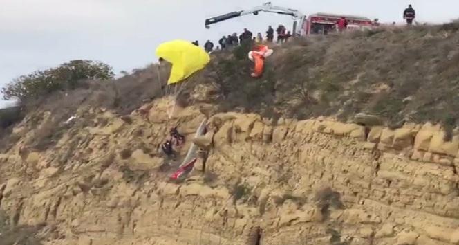 Silivri Aşıklar Tepesi'nde paraşütçüler ölümden döndü
