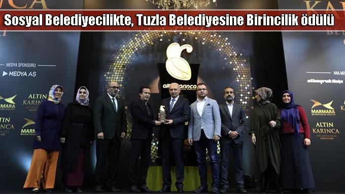 Sosyal Belediyecilikte, Tuzla Belediyesine Birincilik ödülü