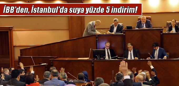 İBB Başkanı Uysal'ın teklifiyle, İSKİ yüzde 5 indirim yapacak!