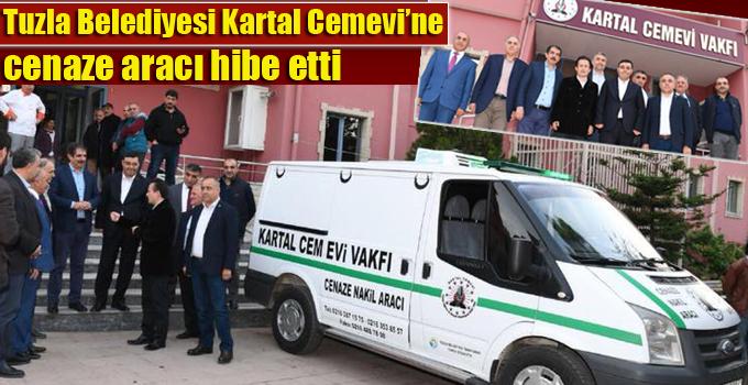 Tuzla Belediyesi Kartal Cemevi'ne cenaze aracı hibe etti