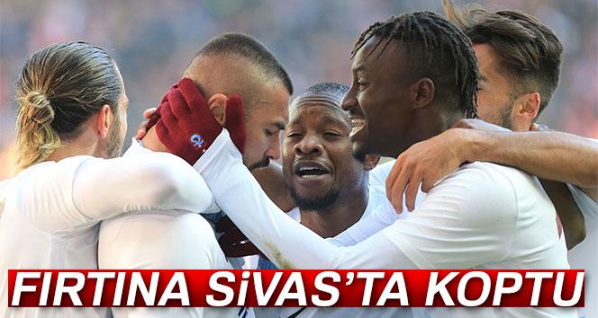 Trabzonspor, Sivas'tan puanla döndü, Sivasspor 1 – 2 Trabzonspor