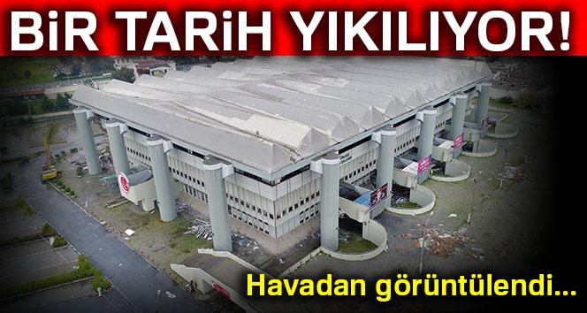 Abdi İpekçi Spor Salonu yıkım çalışması başladı