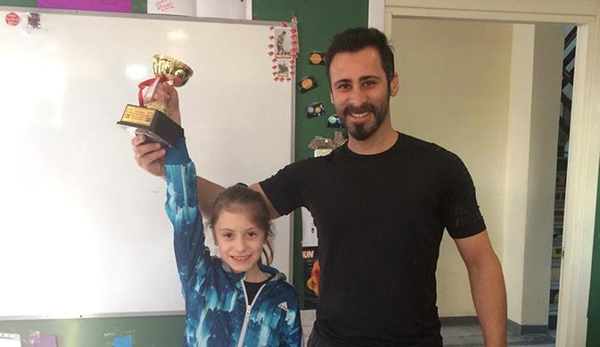 Ahmet Şimşekli jimnastikçiler İstanbul üçüncüsü oldu