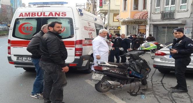 Beyoğlu'nda motosiklet kazası: 1 yaralı