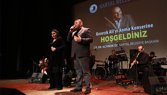 Kartal'da düzenlenen programla Kıvırcık Ali, vefatının 7. yılında anıldı