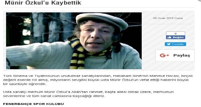 Galatasaray, Fenerbahçe ve Beşiktaş taziye mesajları yayımladı