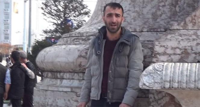 Taksim Meydanı'nda genç bir adam, kendini yakmaya çalıştı