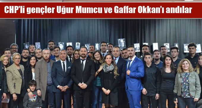 CHP'li gençler Uğur Mumcu ve Gaffar Okkan'ı andılar