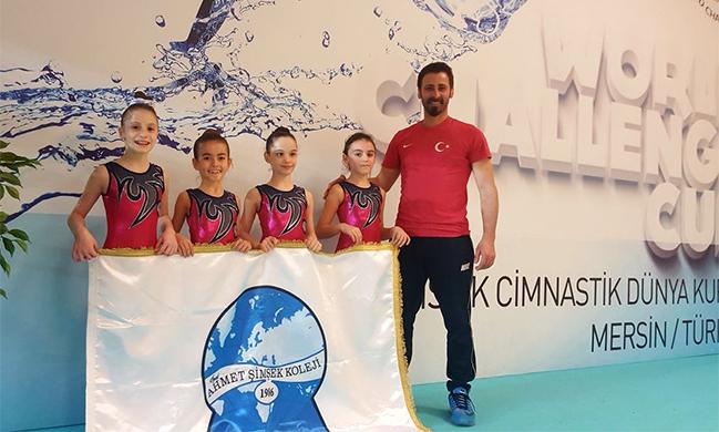 Ahmet Şimşekli Jimnastikçiler Türkiye Beşincisi oldu