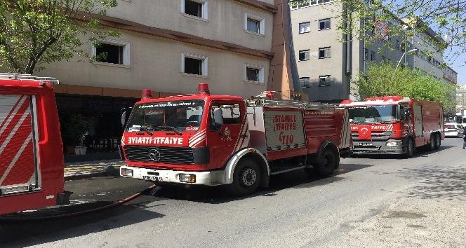 Bir otelin kuaför salonunda yangın çıktı