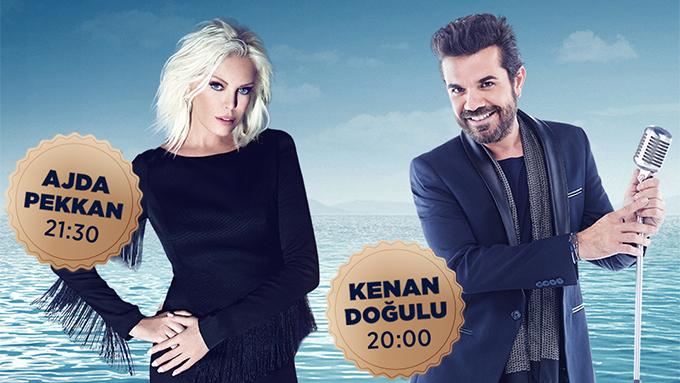 Kartal'da İstMarina'da Süperstar Ajda Pekkan ile Kenan Doğulu aynı sahnede