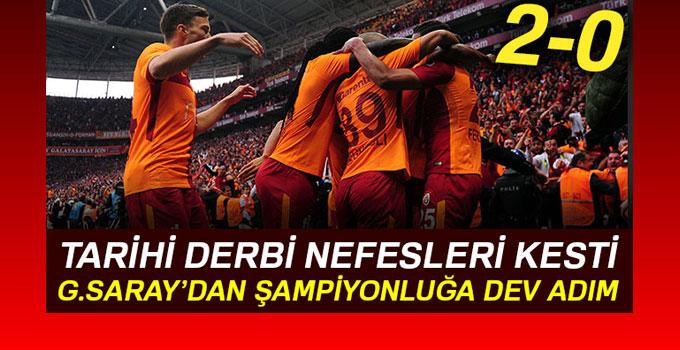 Galatasaray, Beşiktaş'la olan derbi maçı 2-0 kazandı!