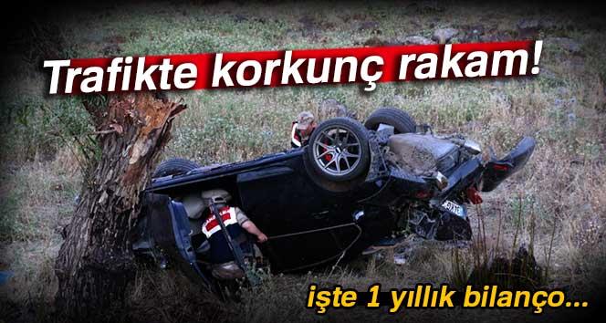 İşte trafik kazalarının 1 yıllık bilançosu!