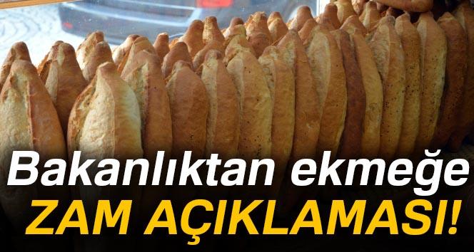Bakanlıktan ekmeğe zam açıklaması!