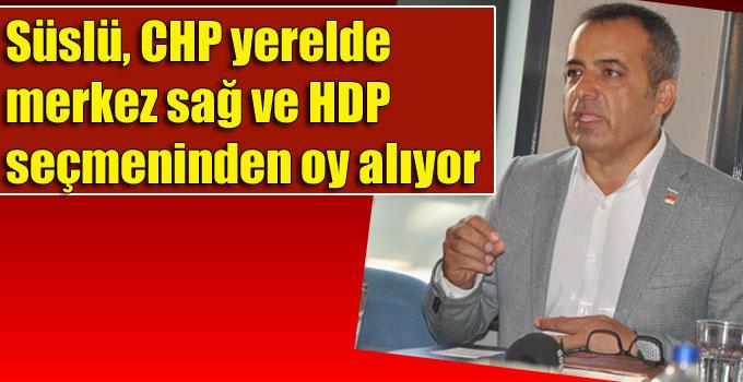 Süslü, CHP yerelde merkez sağ ve HDP seçmeninden oy alıyor