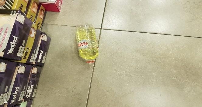 Kartal'da iş yerine benzin dolusu şişeyi atarak kaçtılar