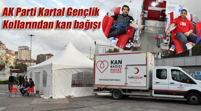 AK Parti Kartal Gençlik Kollarından kan bağışı